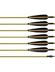 Flèches et Arcs en Bois Manuelle 32 pouces Archery sharly, Tir à l'Arc, Sports et loisirs, 150 grains, Flèches triangulaires pointues pour l'Arc recourbé et l'Arc classique, Flèche pour l'extérieur et pour la chasse, Couleur noire