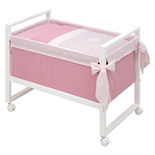 Cambrass Next Small Bed, Denim Pink, 55 x 88 x 72 cm