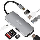 Beeasy Typ C Adapter,[7-in-1] USB C Hub mit Power Delivery Anschluss(PD), HDMI 4K Port,3 USB 3.0 Ports,SD & Micro SD Kartenleser,Multi Port für MacBook Pro 2016/2017 Mac,und mehr LaptopsType C