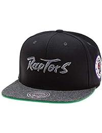 Mitchell   Ness Gorras Toronto Raptors Melange Patch Black Grey Snapback 608cc79e2d1