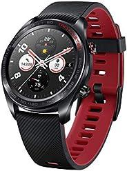 Honor Watch Magic (Lava Black), Lightweight Smart Watch, Personal Fitness Mentor, Watch Faces Store, 7 Days Ba