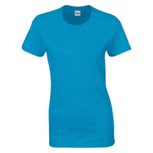 Gildan - T-shirt à manches courtes coupe féminine - Femme Jaune pâle