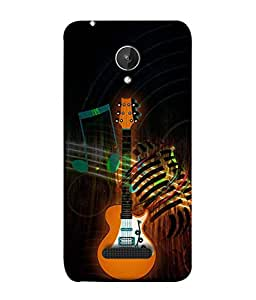 PrintVisa Designer Back Case Cover for Micromax Canvas Spark Q380 (Music Drums Dance Sound Volume Trump)