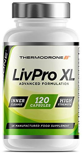 Professional Liver Cleanse, Detox & Support - 120 Veggie Caps - UK Manufactured Lab Tested - Super Strength Liver Support Tablets - Detox Your Liver with 15x Powerful Active Ingredients - Restore Natural Liver Function with Proven Antioxidants - Massive 8 Week Supply - Order LivPro XL Today From A Leading UK Brand Thermodrone Test