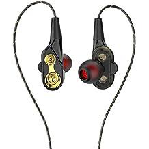 Auriculares In-Ear, iAmotus Auriculares Dual Dynamic Drivers Sonido Estéreo Auriculares con Reducción de