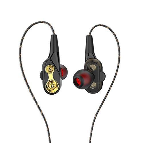 In Ear Kopfhörer, iAmotus Noise Cancelling Ohrhörer Dual Dynamic Treiber Mit Mikrofon Noise Isolating Ohrhörer Sport Kopfhörer für iPhone, iPad, Samsung, HTC und mehr Alle Geräte mit 3.5 mm Stecker
