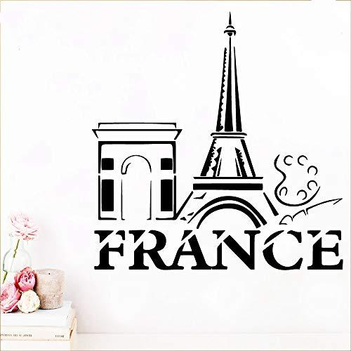 Französisch wandkunst aufkleber aufkleber PVC material für kinder wohnzimmer haus dekoration applique kreative aufkleber n2 57x58 cm