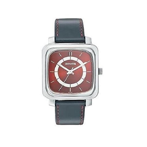 41tGGVvbfxL. SS510  - Sonata 7089SL02 Red Mens watch