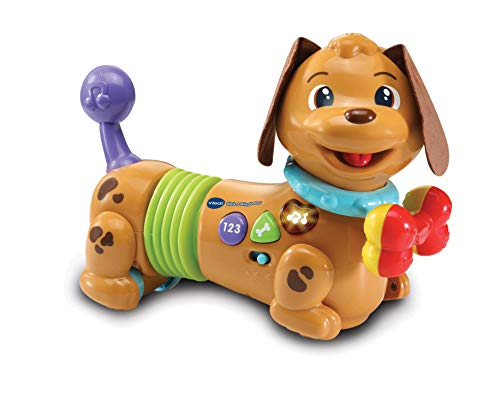 VTech Walk & Wiggle Learning Pup Baby Musical Toy, Interactive Baby Toy with Music & Sound Effects, Educational Toy Suitable for Babies, Boys & Girls 1, 2, 3 Year Olds