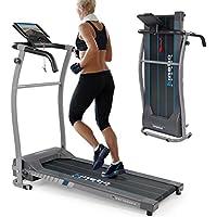 Preisvergleich für Kinetic Sports Laufband 500 Watt leiser Elektromotor 6 Pogramme, GEH- und Lauftraining, Tablethalterung, stufenlos einstellbar bis 10 km/h, klappbar
