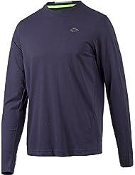 Lotto Bryan III Tee LS - Camiseta de manga larga para hombre, color azul, talla XL