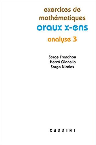 Analyse 3 oraux x-ens