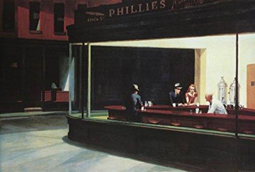 Edward Hopper – Nighthawks Poster Drucken (91,44 x 60,96 cm) (Hopper Art Fine Edward)