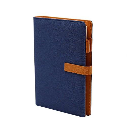 TSY nachfüllbar Diaries, Zeitschriften & Notebooks mit Stift Schlaufe und Magnetverschluss A5 blau