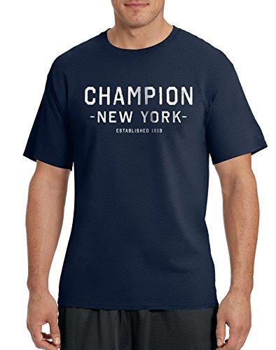 Champion - Maglietta sportiva - Maniche corte  -  uomo Navy/Champion