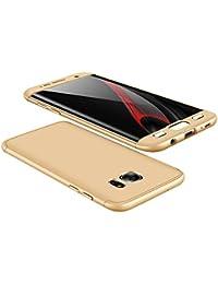 Samsung Galaxy S7 Edge Coque, Wouier® 3 en 1 Étui Hybride 360 Degres Intégrale Protection Antichoc Case Non Slip Très Mince en Dur PC Housse pour Galaxy S7 Edge