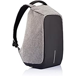 Anti - Theft Business Laptop Backpack with USB Charging Point and Water Resistant (Grey)