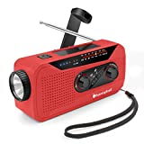 Wind Up Solar Radio,Emergency Hand Crank Radio Dynamo Radio with Flashlight Torch,Rechargeable USB