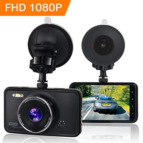 KASSADIN Dashcam 1080P Full HD Auto Kamera DVR Armaturenbrett Kamera Video Recorder 7,6 cm LCD Display 6G Objektiv mit WDR, Loop Recording, G-Sensor, Bewegungserkennung