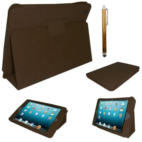 Stuff4®PU Leder Professionelle Künstlermappe Magnetverschluss Fall/Stand Cover für Apple iPad Mini-Braun (Ipad Mini Retina Case-portfolio)