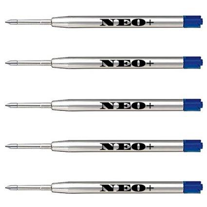 Ersatz-Minen für Kugelschreiber, qualitativ hochwertig, blau, 5 Stück Auch geeignet für Parker Kugelschreiber
