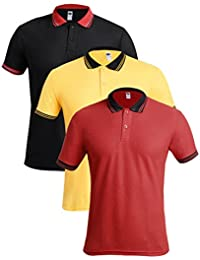 TSX- Men's Polo Neck Half Sleeves Casual T-Shirt For Men (Pack Of 3)