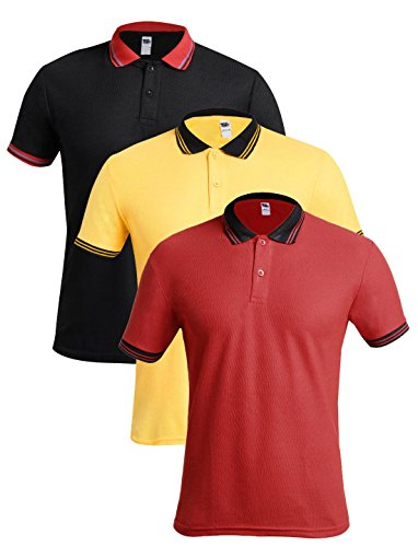 TSX Men's Solid Regular Fit Polo (Pack of 3) (POLOTWIST-269-XL!_Multicolor-269!_XL)