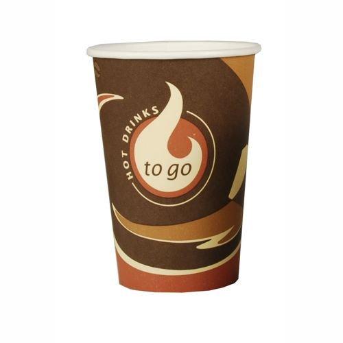"""Papstar Trinkbecher / Papierbecher """"TO GO"""" (50 Stück) 0.3 l, ideal für unterwegs, für Kalt- oder Heißgetränke (Milchkaffee, Kaffee, Latte, oder Tee) #14804"""