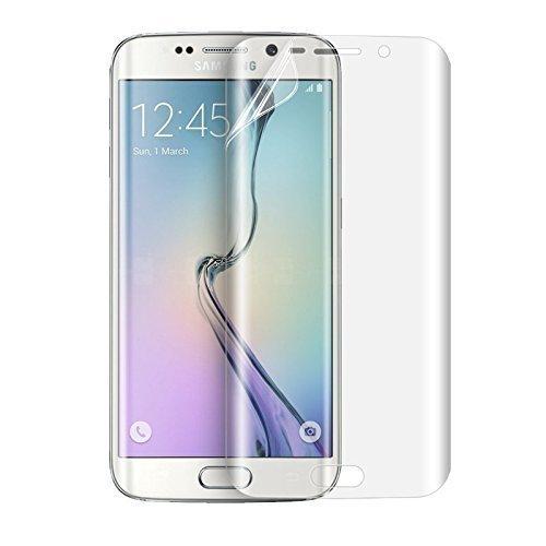 Samsung Galaxy S6 Edge NOVAGO® lot de 2 Films protection souples et résistants anti petit chute et choc , couvre la totalité de l'écran ( regardez la vidéo de pose avant votre application )