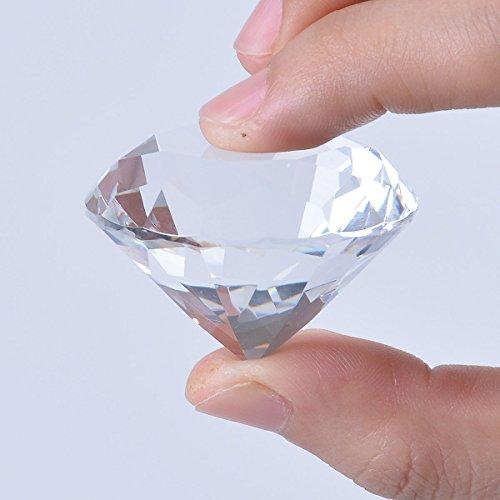 Longwin 40mm W cristal diamante pisapapeles adorno hogar decoracione