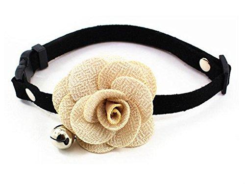 Dogs Kingdom verstellbar Cozy Fliege Hund Katze Halsband mit Glöckchen Kitty handgefertigt Blume Halskette