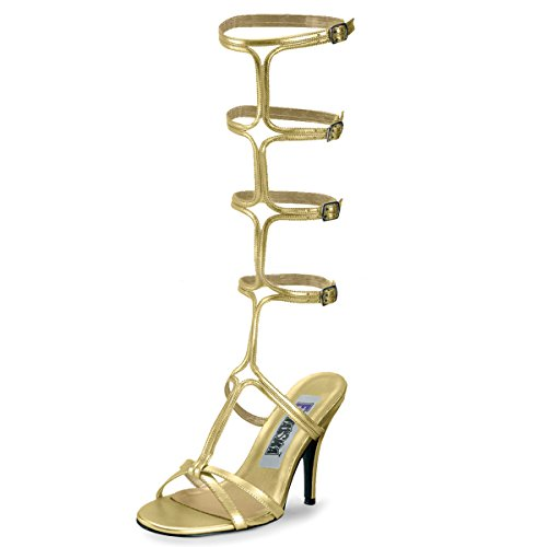 Higher-Heels Funtasma Römerinnen-Schuhe Roman-10 mattgold Gr. - Römisches Theater Masken Und Kostüm