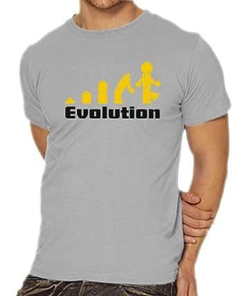Touchlines Men's T-Shirt Evolution Design ash Size:S