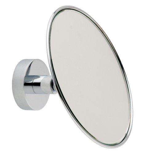 Nie wieder bohren MR486 miroo Kosmetikspiegel, 3fach Vergrößerung, 14 x 14 cm (BxL), verchromt inklusive Befestigungstechnik