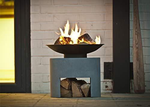 Ivyline Feuerschale & Oval Konsole Schüssel 30cm Fire, Zement