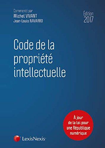 Code de la propriété intellectuelle 2017