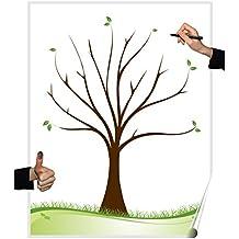 Póster con árbol de bodas, variosdiseños, juego para fiestas, bodas, cumpleaños o
