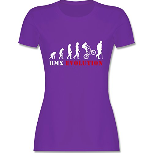 Evolution - BMX Evolution - tailliertes Premium T-Shirt mit Rundhalsausschnitt für Damen Lila