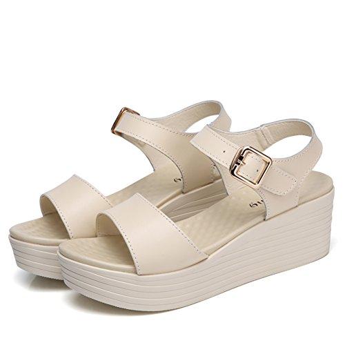Chaussures Occasionnelles Dété De Dames/Sandales De Mode à Fond épais B