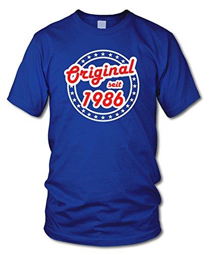 shirtloge - ORIGINAL SEIT 1986 - KULT - Geburtstags T-Shirt - in verschiedenen Farben & Größen Royal