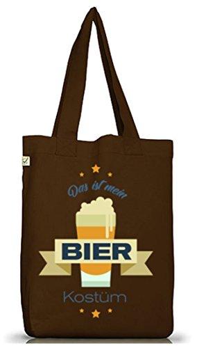 Bierkostüm Jutebeutel für Bierfreunde Karneval Fasching Brown