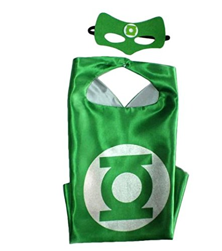 Kiddo Care Superheld Kostüme, Masken, Capes, Satin (Jungen) (Green Lattern) (Superhelden Kostüme Für Babys)