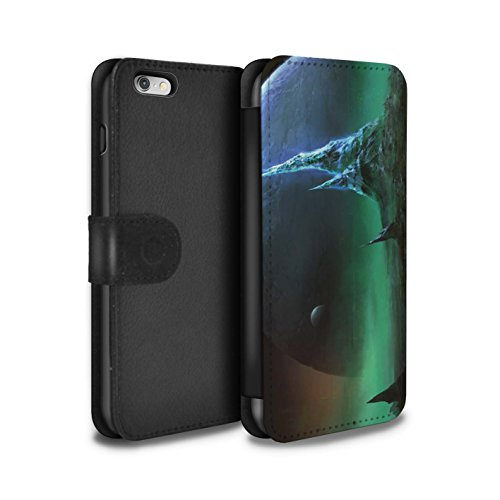 Offiziell Chris Cold PU-Leder Hülle/Case/Tasche/Cover für Apple iPhone 6S+/Plus / Planet/Mond Muster / Fremden Welt Kosmos Kollektion Saphir Spitzen