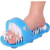 Designerbox ducha para pies sin tener que arquear la espalda, cepillo para limpiar los pies, zapatillas con cerdas, depurador, masajeador, adhesivo para el suelo.