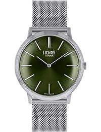 ef3643f0c718 Henry London HL40-M0253 - Reloj analógico de Cuarzo para Adultos con Correa  de Acero