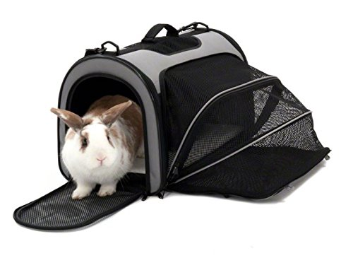 Trasportino multifunzionale pieghevole perfetto per trasportare il vostro animale domestico, coniglio o porcellino d'India,adatto anche per gatti e cani di piccola taglia