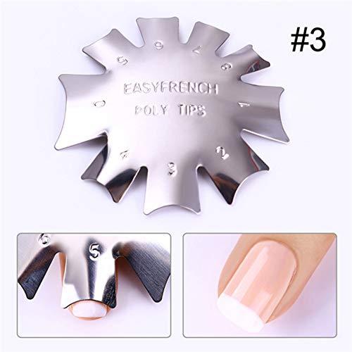 Maniküre Schablone Edelstahl Praktische Nail-Maniküre French Smile Cutting Line Trimming Trimmer Nailart DIY Modell-Werkzeug (French Maniküre Schablone)