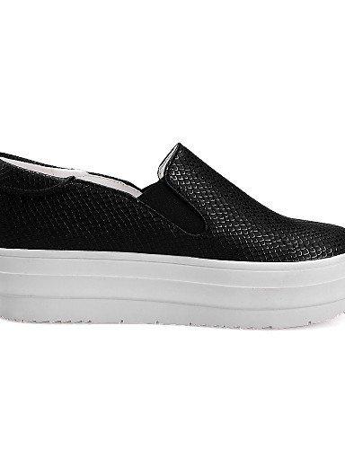 Chaussures Shangyi Femmes - Mocassins - Bureau Et Travail / Formel - Bout Arrondi - Plateau - Simili Cuir - Noir / Rouge / Blanc Rouge