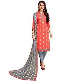 9b3da9486386e0 Blissta Women s Banarasi Silk Woven Salwar Suit Material with Fancy Border  and Dupatta (SMFGLMR22004