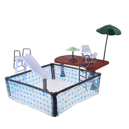 D DOLITY 1:6 Puppenhaus Puppenmöbel Kinderzimmer / Wohnzimmer / Schlafzimmer / Arbeitzimmer Set Für 29cm Barbie Modepuppe Zubehör - # 6 (Schlafzimmer Möbel-sets)